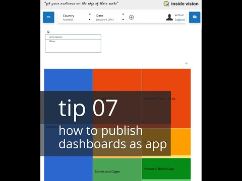 tip 07 - how to publish dashboards in an app