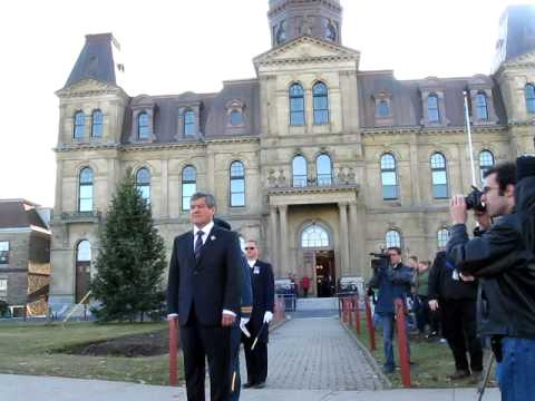 Lieutenant Governor Graydon Nicholas arrives at the New Brunswick Legislature
