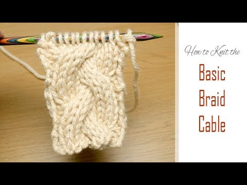 How To Knit: Basic Braid Cable | Simple Pattern For The 3/3/3 Plait | Cabling Tutorial