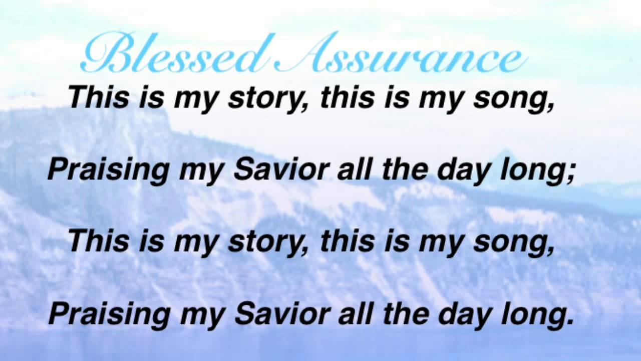 blessed assurance jesus is mine pdf