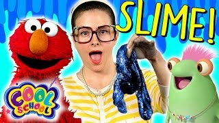 Ocean Slime DIY! Marvie & Elmo Learn How to Make Slime! | Arts & Crafts with Crafty Carol Part 1