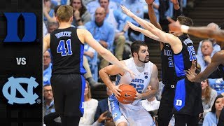 Duke vs North Carolina College Basketball Highlights (2018-19)
