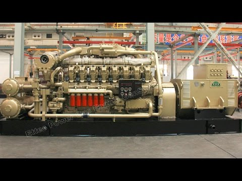 Ettes Power 1000KW (1MW) Natural Gas Oilfield-APG-Gas  Engine Generator EttesPower