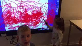 Интерактивная доска в детском саде. Дания 1.04.2018