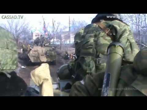 Дебальцево. Танки Т-72БМ Т-72Б1 ВС РФ (14.02.2015)
