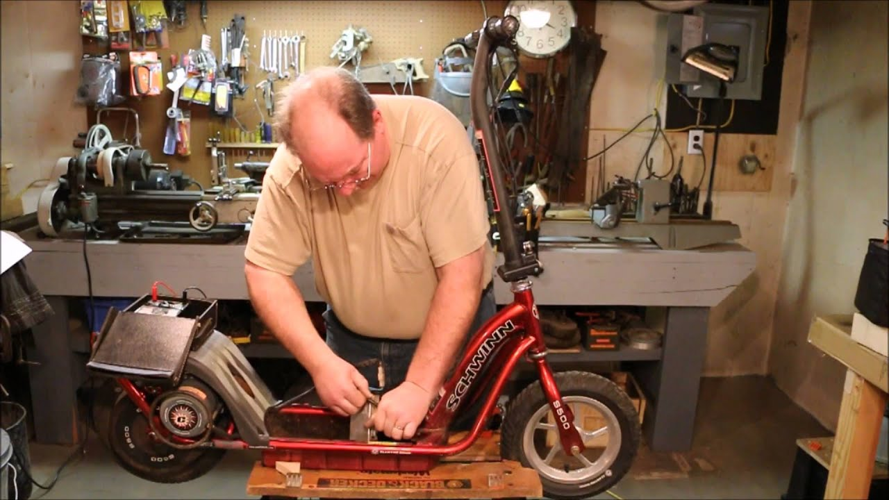 maxresdefault bringing a schwinn s500 scooter back from the edge ~ by old schwinn s500 electric scooter wiring diagram at crackthecode.co