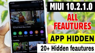 MIUI 10.2.1.0 OEGMIXM Stable Update 20+ All New Feautures App Hidden   Full Review Redmi Note 5