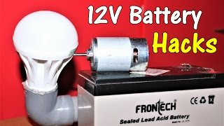 3 Awesome Life Hacks using 12V Battery and 12V DC Motor