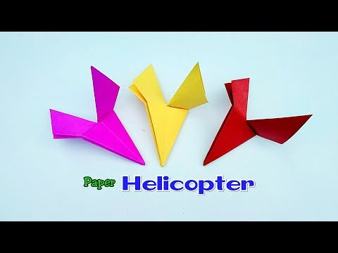 Paper Flying Helicopter || Origami Helicopter || DIY