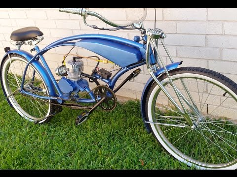 Custom Built Stretch Motorized Cruiser Bicycle - YouTube Custom Built Bicycle