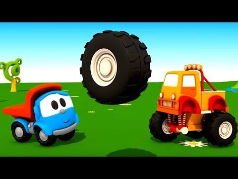 Синий трактор - Развивающая Сказка для детей малышей про машины Как Джип стал полицейской машиной