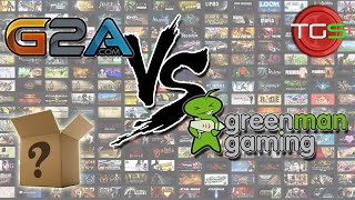 G2A vs Green Man Gaming - Battle of the Mystery Steam Key Bundle!