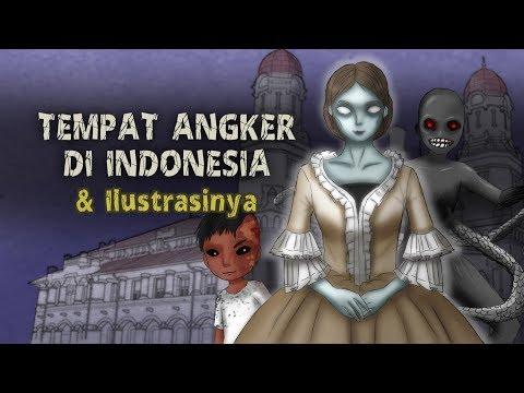 Tempat Angker Di Indonesia & Ilustrasinya | Lawang Sewu, Cerita Misteri, Kartun Hantu Rizky Riplay