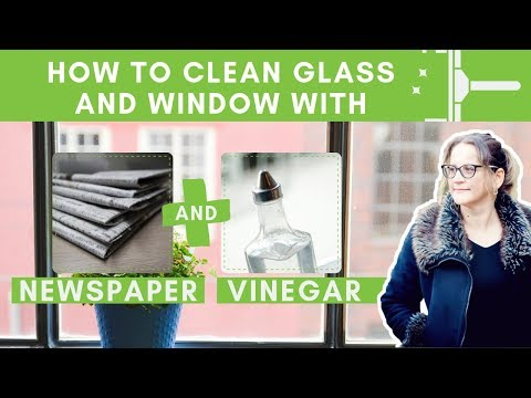 How to clean Glass and Window with Newspaper and Vinegar