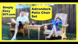 Cedar Adirondack Chair And Patio Set Part 1