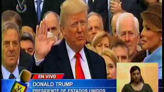 Trump jura el cargo y se convierte en el presidente número 45 de EEUU