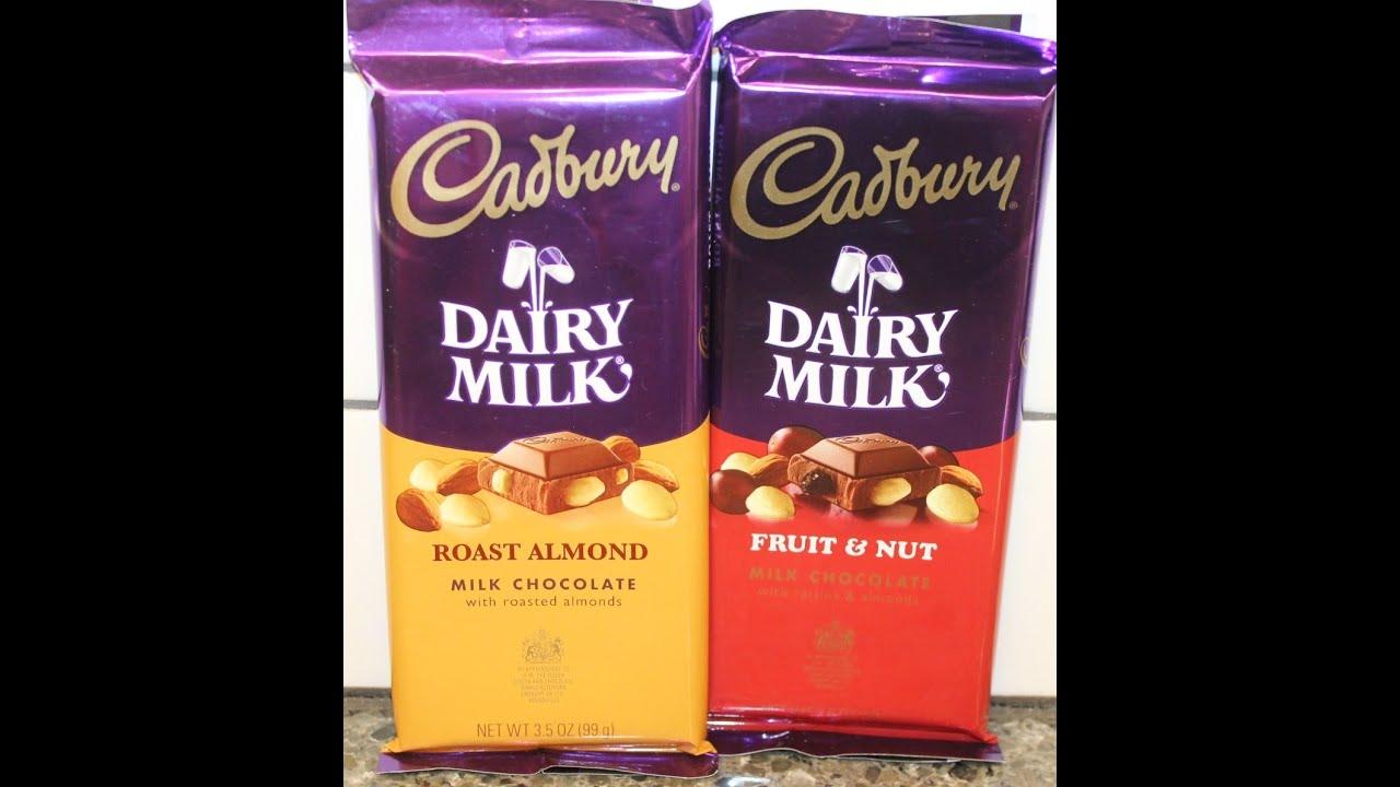 Cadbury: Roast Almond and Fruit & Nut Candy Bar Review ...
