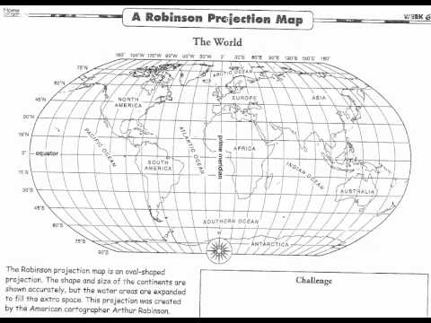 daily geography week 6 a robinson projection map youtube