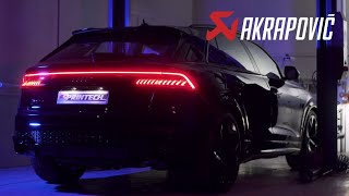 Audi RSQ8 Akrapovic exhaust sound and installation! 4K