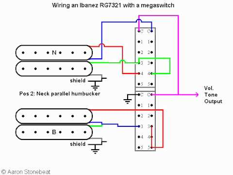 basic guitar electronics xvii using a megaswitch to wire an ibanez rh youtube com Ibanez RG7420 Green Ibanez RG7321