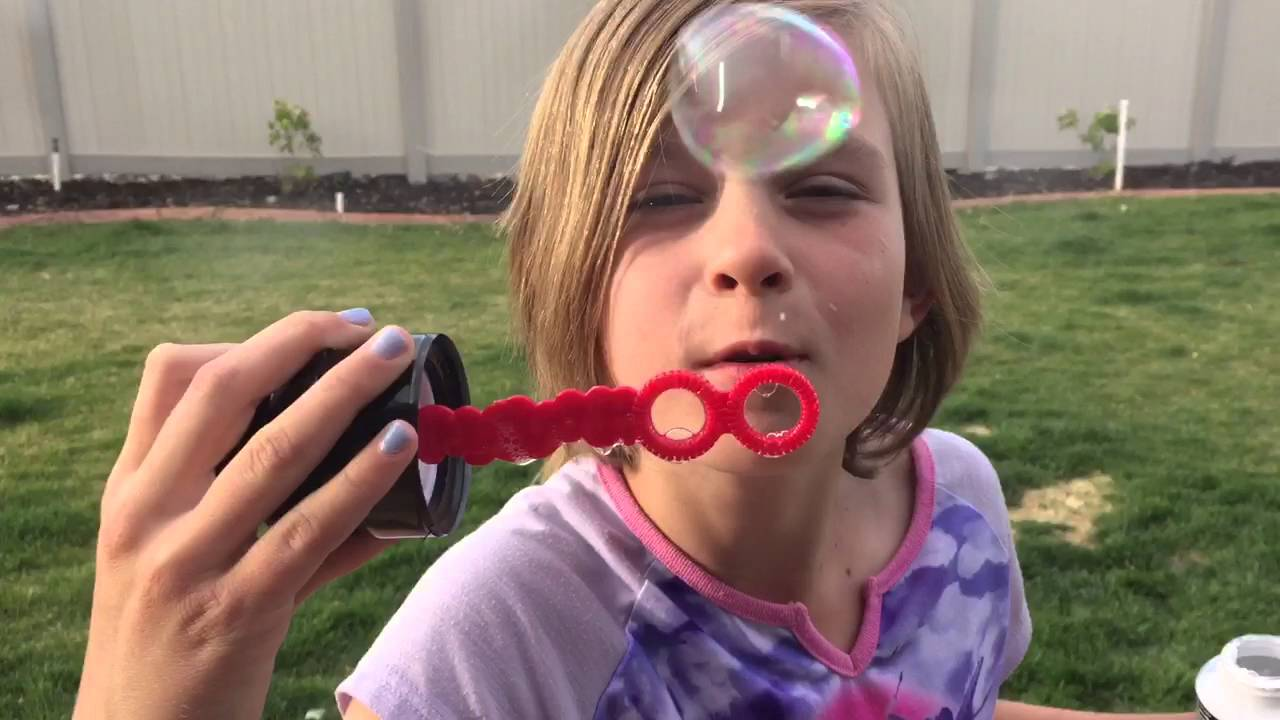 new concept f4f31 6a507 Lily and Chloe blow bubbles on May the Fourth!
