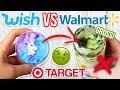 TARGET SLIME VS WALMART SLIME VS $1 WISH SLIME! Which is Worth it?!?