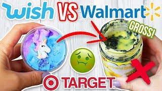 TARGET SLIME VS WALMART SLIME VS $1 WISH SLIME! Which is Worth it?!?