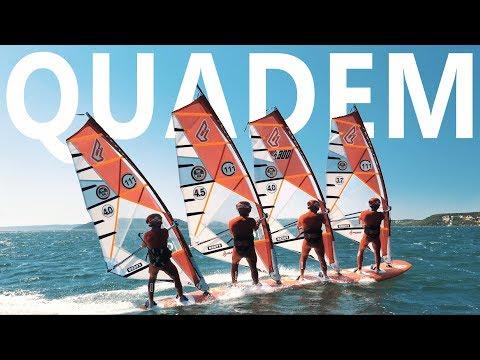 Quadem windsurfing & DEFI WIND in 4K ► CRAZY! thumbnail