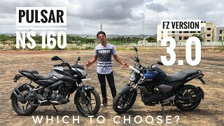 Yamaha FZ V 3.0 Vs Pulsar NS 160 Comparison Video
