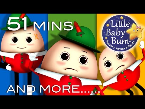 Humpty Dumpty | And More Nursery Rhymes | 51 Minutes Compilation from LittleBabyBum!