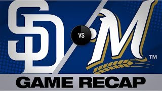 Spangenberg collects 3 RBIs in 5-1 win | Padres-Brewers Game Highlights 9/16/19