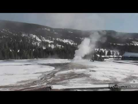 Old Faithful Yellowstone Geyser 19 February 2020