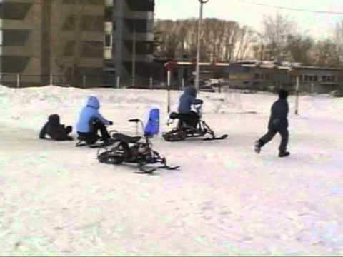видео: Самодельные снегоходы
