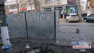 """Видео """"Новости-N"""": Ремонт ямы в центре Николаева"""