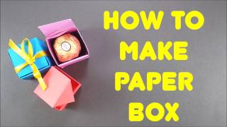 How To Make Paper Box - Easy Origami Step By Step Tutorial On How To Make A Gift Box That Opens