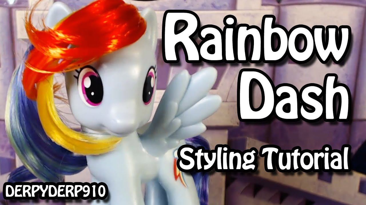 rainbow dash hair style my pony rainbow dash hair styling tutorial 6341