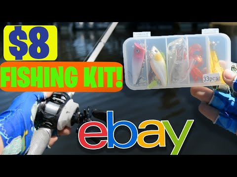 *CHEAP* Ebay FISHING Tackle Box KIT!! (FISHING & UNBOXING)