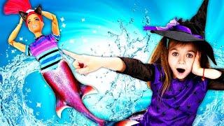 Барби русалка мечтает похудеть. Волшебница - Ведьмочка Юлли - Мультики для девочек