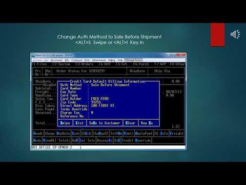 Epicor Eclipse Element / Vantiv Credit Card Processing in Eterm