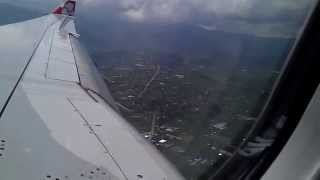 Airasia landing in kathmandu Tribhuwan International Airport,Nepal