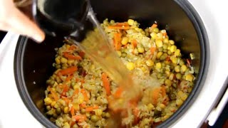 Рис с овощами в мультиварке и мини обзор мультиварки Mystery