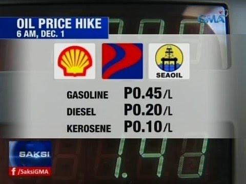Saksi: Oil price hike, sasalubong sa mga motorista sa unang araw ng Disyembre