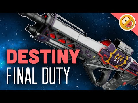 DESTINY Final Duty [Max Stability] Legendary Pulse Rifle Review (Queen's Weapon)