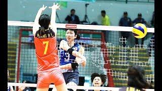 HL วอลเลย์บอลหญิงชิงแชมป์เอเชีย 2017 | รอบแรก กลุ่ม บี. | ญี่ปุ่น - จีน