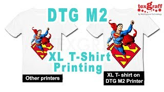 Printing X-Large with DTG M2 T-Shirt Printer