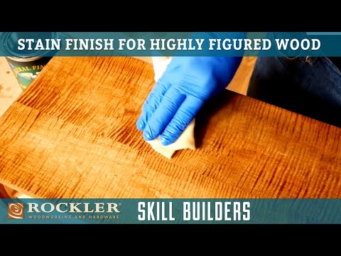 How To Apply Stain Finish for Highly Figured Hardwood - Wood Finish Recipe 5 | Rockler Skill Builder