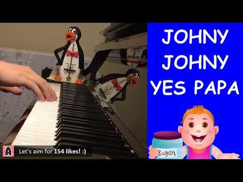 Johny Johny Yes Papa (Piano Cover by Amosdoll)