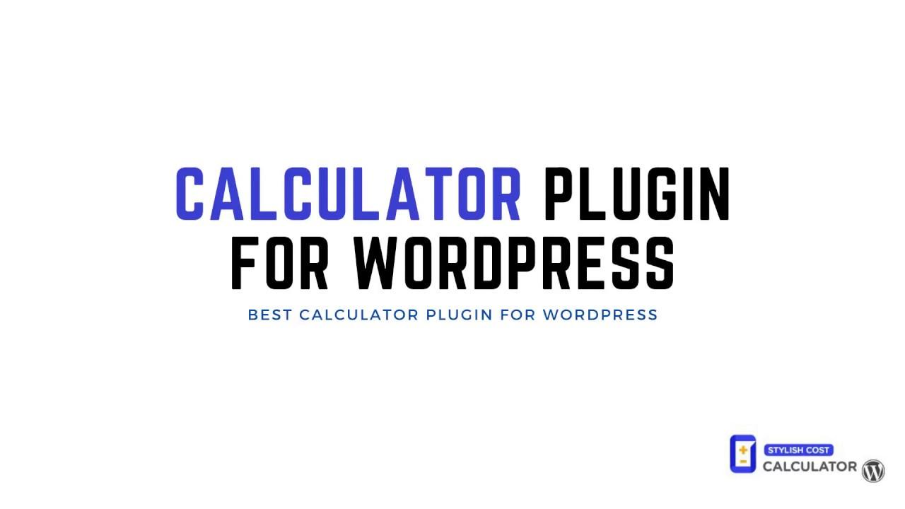Calculator Plugin for Wordpress   Stylish Cost Calculator   YouTube