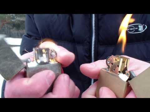 Тест зажигалок на ветру: Zippo VS Китайская Star