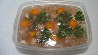 Рыбный холодец из толстолобика. Fish jellied carp.